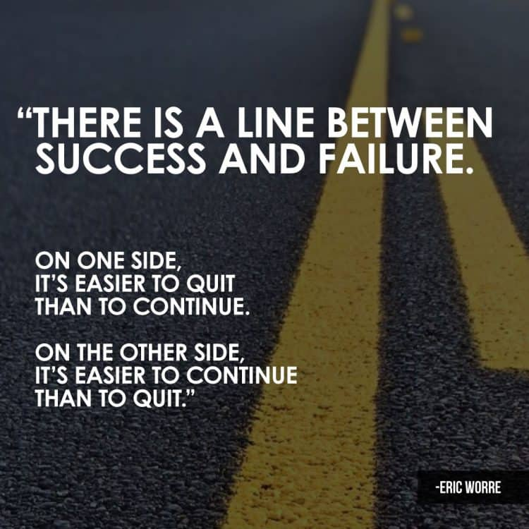 A Line Between Success and Failure